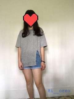 🚚 開衩長版短袖