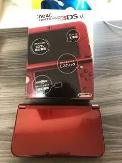 New 3DS LL 日版 金屬紅