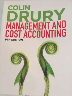 Colin Drury Management Accounting and Cost Accounting