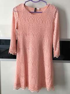 H&M Peach Lace Dress