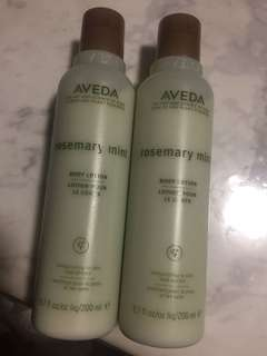 Aveda rosemary body lotion