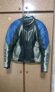 Dainese Leather Riding Jacket with shoulder and elbow padding