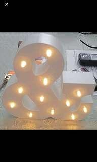 Alphabet with lights