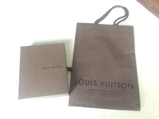 Louis Vuitton Paper Bag and Gift box