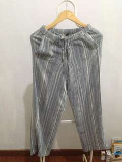 Stripe long trousers