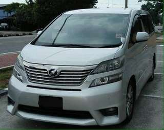 Vellfire 2.4 2008/2011 🇲🇾 Status JT. Read Description Below!!