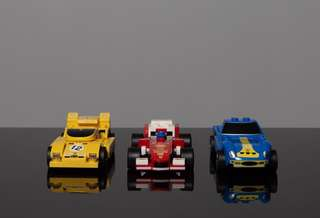 LEGO vehicles from Shell Station (x3)