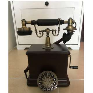 New Classic Vintage (Wooden Design) Desk Phone for Sweet Home or Office