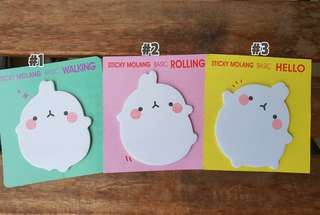 Molang post it sticky notes