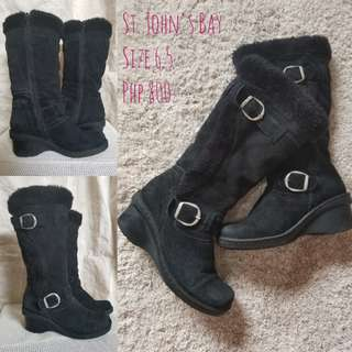St. John's Bay Suede Boots