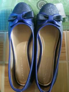 Sepatu yongki komaladi biru (flat shoes)