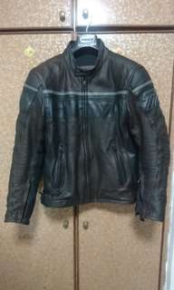 Dainese Leather Riding Jacket with shoulder and elbow padding.