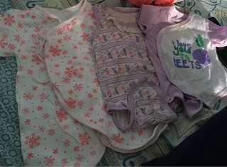 Baby girl onesie 0-5 mos (bundle)