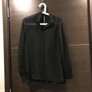 Stradivarius blouse in black, size S