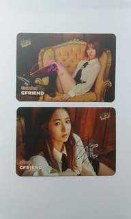 Gfriend Sinb Eunha 彩簽Yes Card