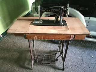 Antique Singer Sewing Machine with Motor