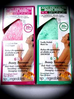 [SPONGEABLES] Anti-Cellulite Body Wash in a Sponge [Price for1 qty, two types availiable]