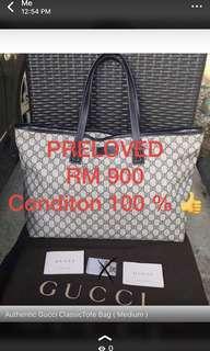 Authentic Gucci tote bag )medium