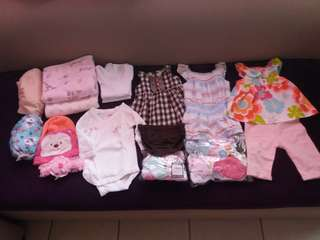 Carter's, Mothercare, Nuk, Old Navy - Newborn Clothes for baby girl