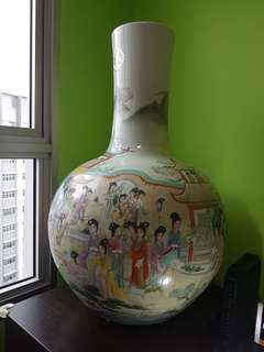 """27"""" tall Chinese Vase"""