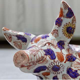 RARE Antique Chinese Imari Pig - Immaculate Condition