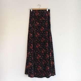 Long Velvet Maxi Skirt