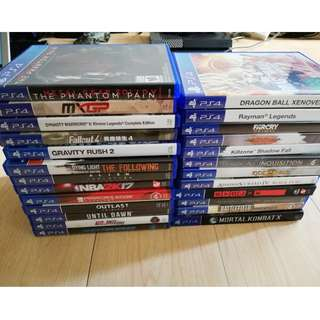 Cheap PS4 Games For Sale Or Trade Outlast Until Dawn God Of War