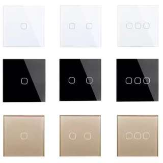 BN Luxurious Minimalist 1 Way Touch Electric Switch