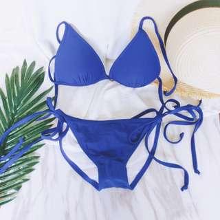 全新 美國Cloris Murphy Swim 單綁帶藍色比基尼 XS 綁帶褲S