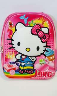 Hello Kitty 3D print Schoolbag for kids
