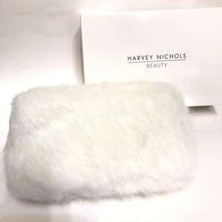 Harvey Nichols Beauty 兩用袋 (white) 毛毛面