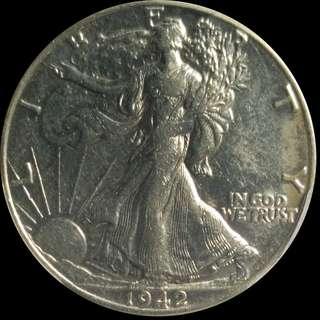 Walking Liberty 1942 US Half Dollar PCGS XF 45