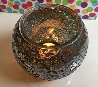 Glass Mosaic Candle Holder - excellent condition!
