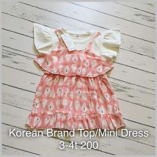 Top/mini dress for kids