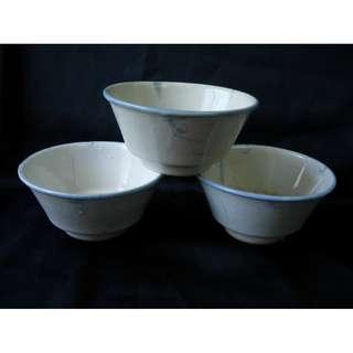 50~70年代廣東民間舊瓷碗 有青花碗