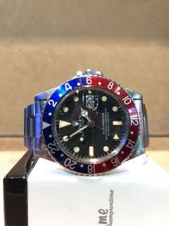 Authentic Rolex Oyster GMT Master 1675 Black Dial Automatic Steel Casing Bracelet