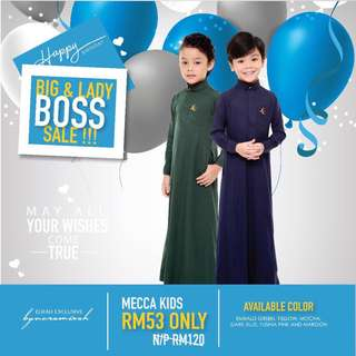 [SOLD OUT!] Jubah Mecca Kids