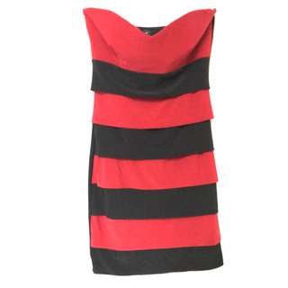 sexy red and black dress (size : Medium)