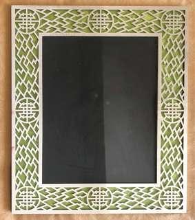 Shanghai Tang 8R silver lattice photo frame