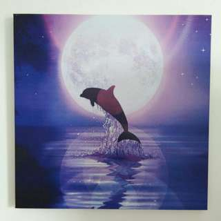 Dolphin printed canvas