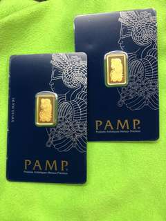 Pure Gold Bars - PAMP (different weights)