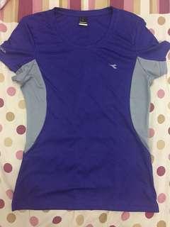 Purple Gray Diadora Running T-Shirt