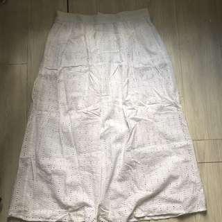 Monki White Crochet Maxi Dress