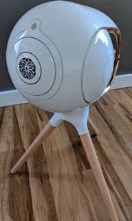 Devialet phantom gold Bluetooth speaker with stand