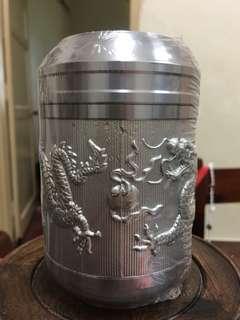 Genuine Tin tea caddy tea caddy tuba-small size (正品锡罐茶叶罐纯锡茶叶罐小号)dragon