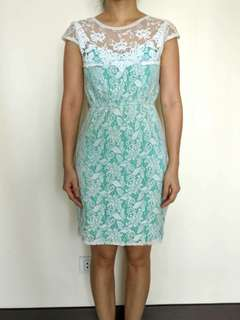 Apple & Eve mint dress with lace overlay