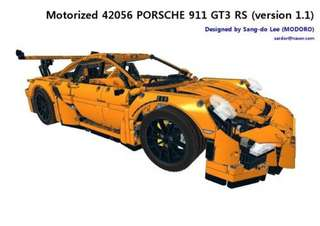 Fully Motorized 42056 Lego Porsche 911 GT3 RS version 1.1 by Modoro