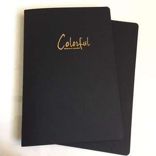Unlined Journal / Notebook (black leaves)