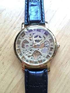 Winner skeleton manual winding watch