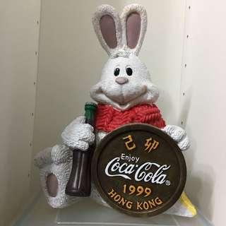 可口可樂 1999年兔年纪念錢箱